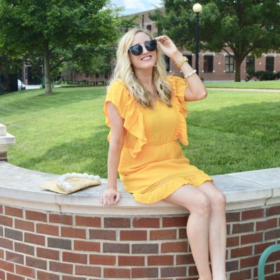 Yellow Angel Sleeve Dress