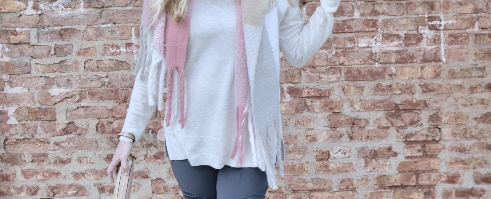 Gray & Pink Casual Look